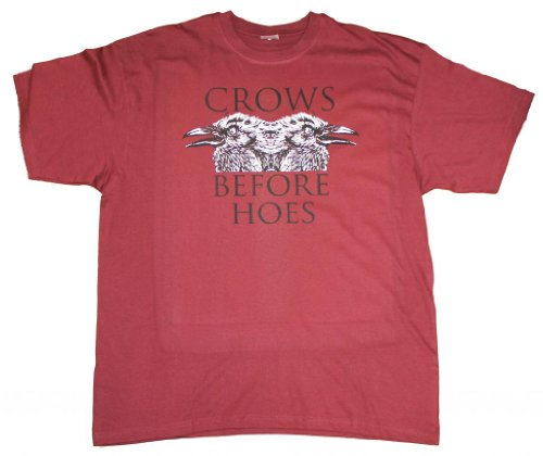 21 Century Clothing Men's Crows before Hoes Game of Thrones T - Shirt XXX-Large Burgundy