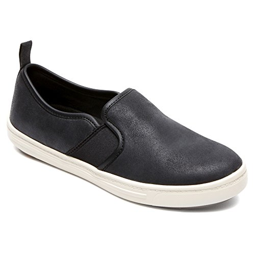 Rockport Mujeres Truwalkzero Cup Sole Gore Slip-on Loafer Black Cas