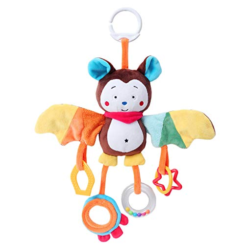Longay Animal Plush Toys Developmental Toy Bed Hanging Bed Infant Kids Baby Soft Toys (F) for $<!--$3.60-->