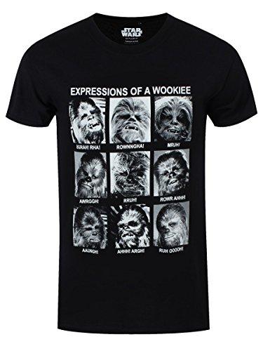 Star Wars Wookie Expressions T-Shirt Chewbacca Baumwolle lizenziert schwarz - XXL
