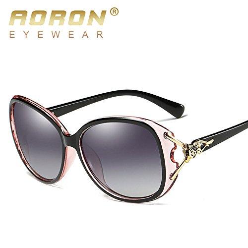 de de polarisées soleil Lunettes BigFamily Lunettes de soleil femmes quotidiennes Noir Rose Prismatic Femme dames lunettes élégantes 1Xwx5Sq0