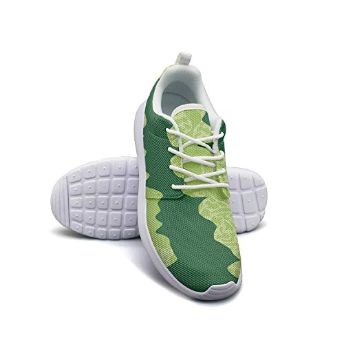 Hobart dfgrwe Green Watermelon Rind Women Flat Bottom Casual Shoes Breathable Running Shoes