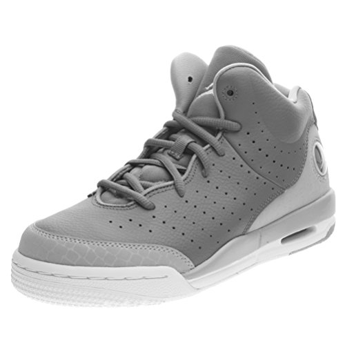 Nike Air Jordan Flight Tradition BG Hi Top Trainers 819473 Sneakers Shoes (3.5 M US Big Kid, cool grey white wolf grey 003)