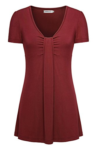 Kimono Nursing Top (Helloacc Summer Short Sleeves Tops, Fashion Blouses and Shirts Stylish Tee Wine)