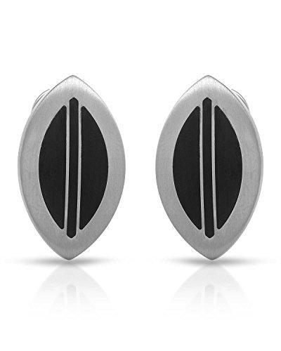 (Teno Stainless Steel Earrings For Women. Length 24 mm. )