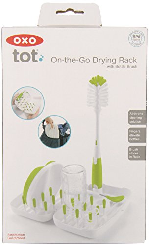 OXO Tot On-the-Go Travel Drying Rack with Bottle