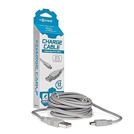 Tomee : Cable Cargador Para Nintendo Wii-u Mando Pro ...