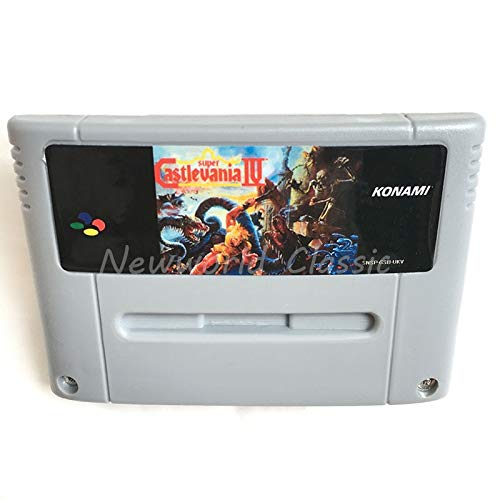 Super Castlevania 4 For 16 Bit Video Game Cartridge Compilation Card For Eur/Pal Version Game Console (Super Castlevania Iv)