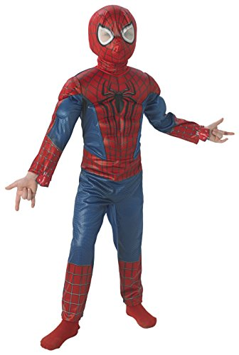 The Amazing Spider-man 2, Deluxe Spider-man Costume, Child (Amazing Spider Man Costumes Adult)