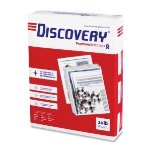 Discovery 12534 Multipurpose Paper, 8-1/2-Inch x11-Inch, 20 Lb,97 GE, 5000Sht/CT, WE