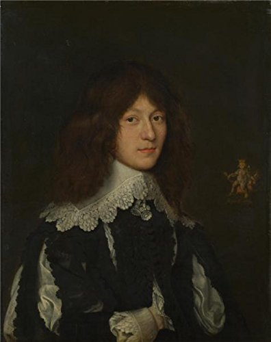 'Dutch - Portrait Of A Young Man In Black,about 1635-40' Oil Painting, 24x30 Inch / 61x77 Cm ,printed On High Quality Polyster Canvas ,this Reproductions Art Decorative Canvas Prints Is Perfectly Suitalbe For Kids Room Gallery Art And Home Decoration And Gifts