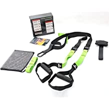 ZHSD Body weight Suspension Strap With Wall Mount Bracket Kits For Home Gym Training(Complete Full Body Workouts Kit)