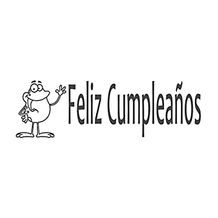 Amazon.com : Pack of 2 Small Stamps - Feliz Cumpleaños, pre ...