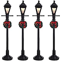 Lemax Christmas - Gas Lantern Street Lamp Set of 4 B/O (4.5V) (64498)