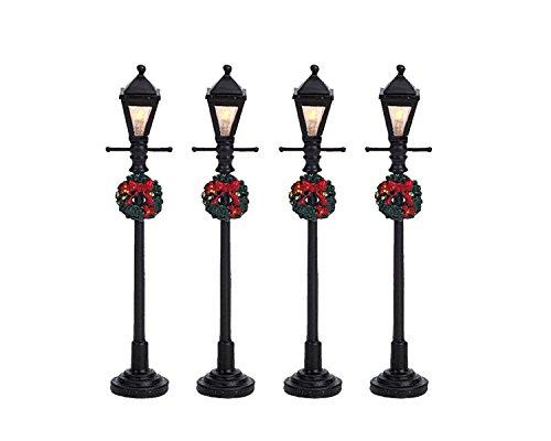 Lemax Christmas - Gas Lantern Street Lamp Set of 4 B/O (4.5V) (64498)