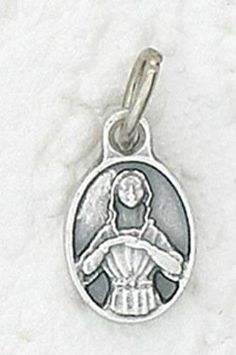 St. Agatha Small Charm Oval Medal - Patron Saint of Breast Cancer ()