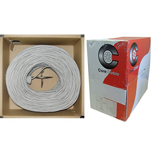 GOWOS Shielded Security/Alarm Wire, Gray, 18/2 (18AWG 2 Conductor), Stranded, cm/Inwall Rated, Pullbox, 1000 Feet - Low Voltage Stranded Copper Spool Solid Conductor Protect Speaker - Hanger Horn Plugs