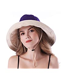 AMAKU Women Large Brim Sun Hats Packable Foldable UV Protection Bucket Hats