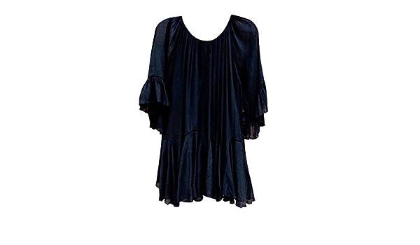 Mujer y Niña otoño fashion fiesta,Sonnena ❤ Camisa de volantes bohemios de la moda del verano de las mujeres Blusa de manga irregular de manga de ...