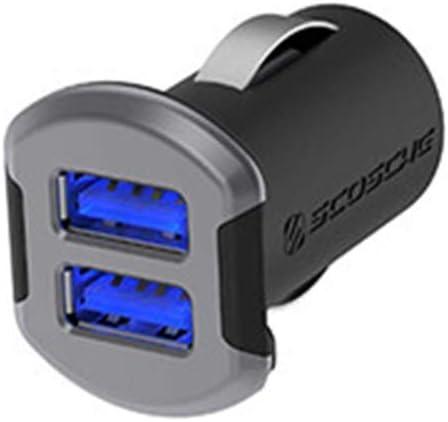 SCOSCHE USBC242MSG Revolt Universal Dual Port USB Car Charger, Space Grey