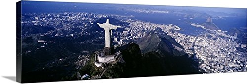 Canvas On Demand Premium Thick-Wrap Canvas Wall Art Print entitled Aerial Rio de Janeiro Brazil 60