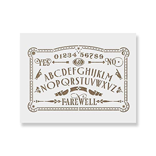 Ouija Board Stencil Template for Walls and Crafts - Reusable Stencils for Painting in Small & Large Sizes