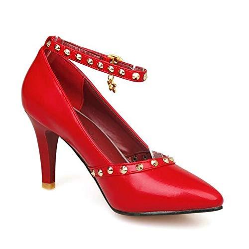 Comfort Stiletto Blanco PU de Rojo ZHZNVX Poliuretano Zapatos Mujer Heels Red Heel Negro Fall xUApYwp