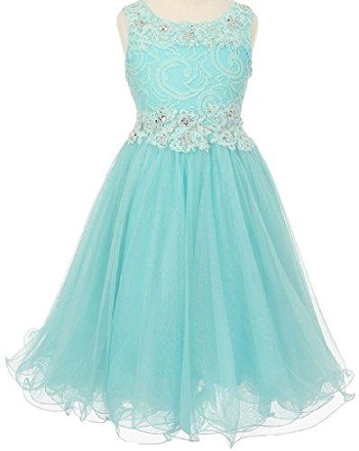 Aqua Sleeveless Dress - 9