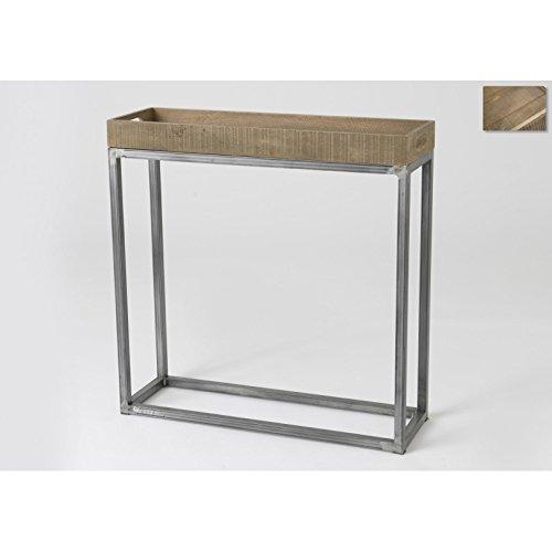 Amadeus - Consola industrial, estilo loft (con bandeja): Amazon.es ...