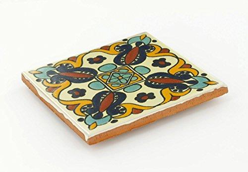 Box of 45 - 4¼ x 4¼ Arteaga 3 - Talavera Mexican Ceramic Tiles