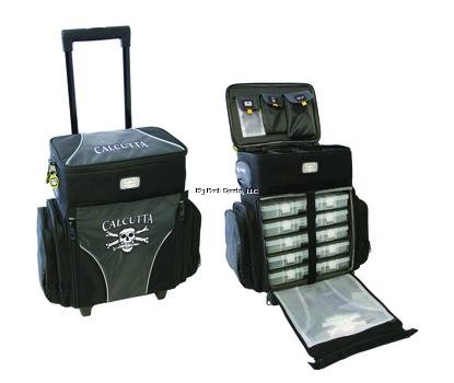 Calcutta Rolling 5 Tray Tackle Bag Includes 5 360 Boxes