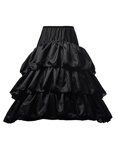 Topwedding enagua de la boda tiene cuatro capas de nylon de una linea blanca Negro