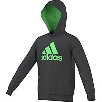 Adidas Jungen Oberbekleidung Essentials Logo Hoody Grau 116