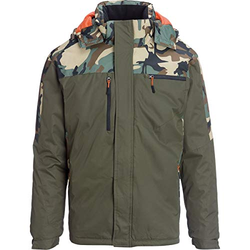 Marqt Outdoor Heavy Weight Color Block Parka - Men's Camouflage/Olive, S