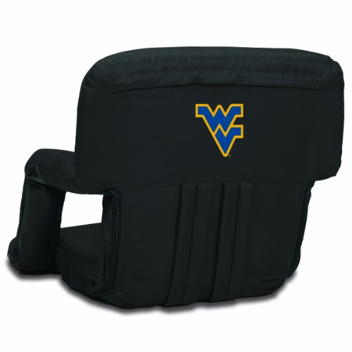 (NCAA West Virginia Mountaineers Ventura Portable Reclining Seat, Black)