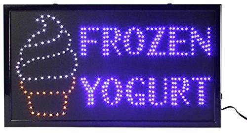 - Displays2go Black Plastic Semi-Gloss Frame LED Flashing Sign Board Reads