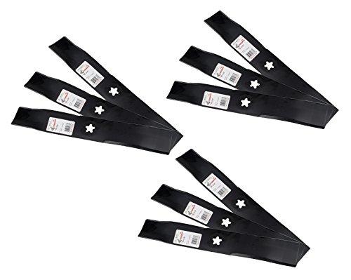 "(9) Rotary 10377 Mower Blade AYP 173921 and Husqvarna 532173921, 48"" Deck -  RTY-10377-009"