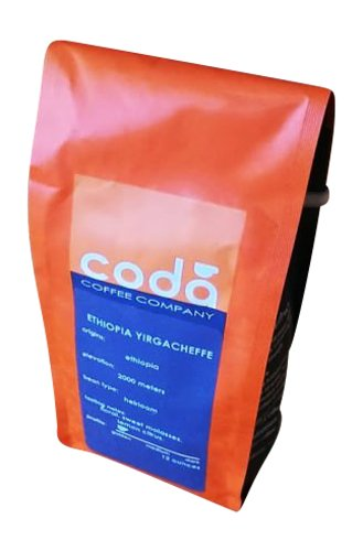 Coda Coffee, Vivace Fair Trade Basic Blend 12 oz bag, Whole Bean Coffee