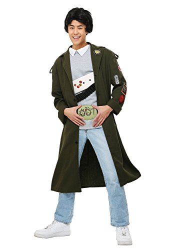 The Goonies Adult Data Costume - Trench Coat, Shirt and Belt - S to XL