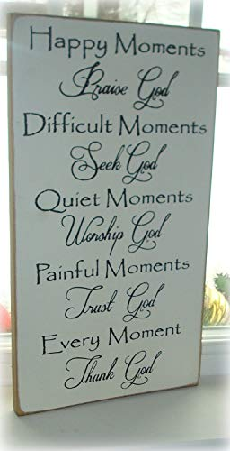 Zora Camp Wood Sign Hand Printed Wood Sign Christian Sign Board Happy Moments Praise God Sign Rustic Sign Primitive -