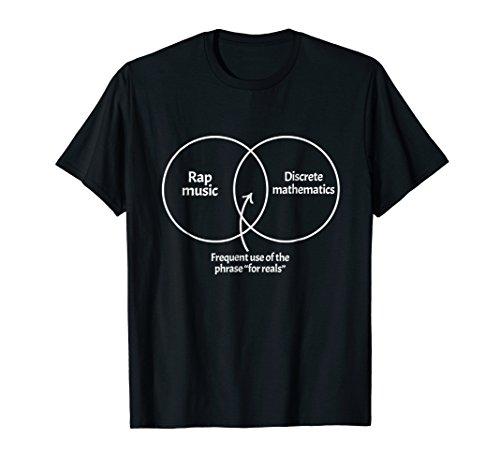 Venn Diagram Math - Mens Rap Music Discrete Mathematics Venn Diagram Funny Math Shirt 2XL Black