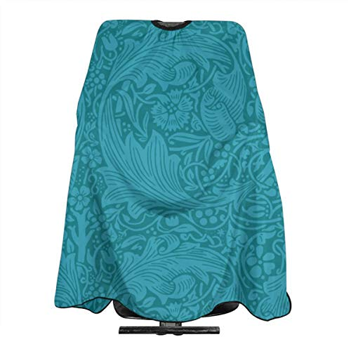 Acanthus Scroll - Haircut Barber Cape Cover Hair Apron,Judys Acanthus Scroll Dark Hair Salon Cape with Snap Closure for Hair Cutting,Styling and Shampoo 55