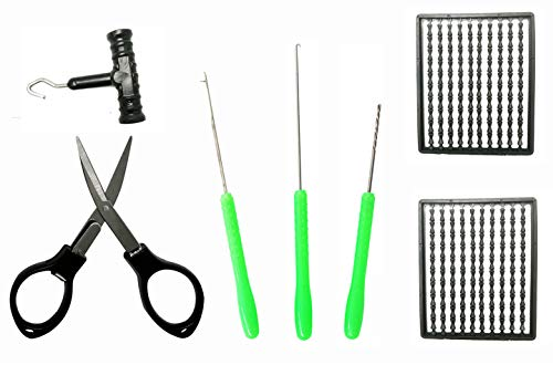 Carp Fishing Baiting Rigging Needle Baiting Rig Tool Kit Swinger Driller Knot Puller Line Scissors Boilie Stops Set Combo