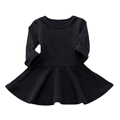 78d3a7c34dab Amazon.com  mommy   more Long Sleeve Solid Princess Casual Toddler ...