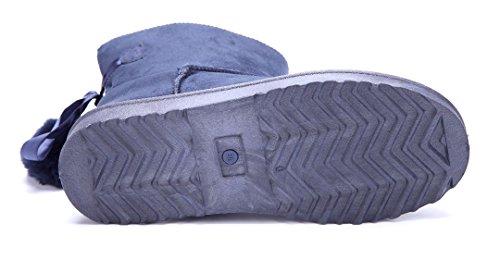 Zierschleife Emu Schuhe Schlupf Damen Winterstiefeletten Blau Flach Schuhtempel24 Stiefel Boots x6Z4YHwWq8