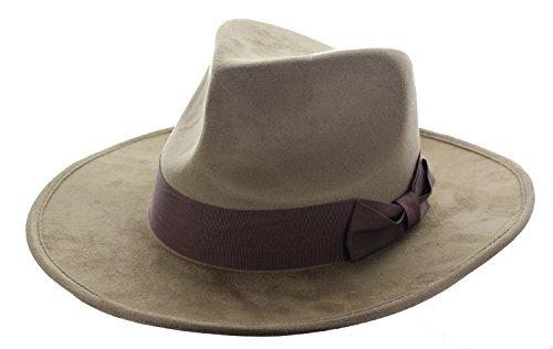 Brown Fedora Adult Hat (elope Brown Adventure Hat)
