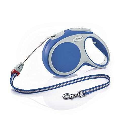 Flexi Vario Retractable Lead Cord, M Cord 8 m Blue