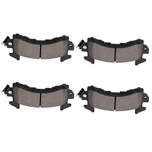 cciyu Professional Front/Rear Ceramic Disc Pads Set fit for Buick Century/Regal/Riviera,Cadillac DeVille/Eldorado/Fleetwood/Seville,Chevy Blazer/Camaro/El Camino/LLV/Malibu/Monte Carlo/S10 Blazer