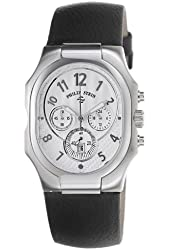 Philip Stein Men's 23-NW-CB Classic Black Calfskin Leather Strap Watch