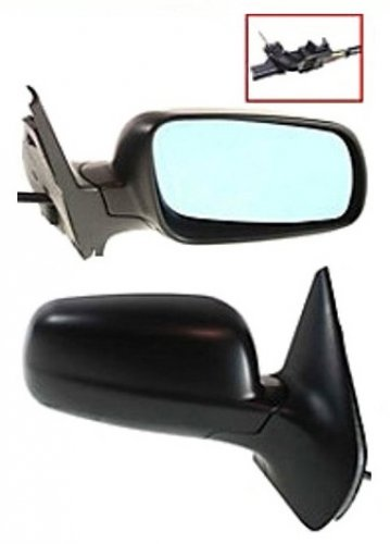 New Passenger Side Mirror RH, 1999-2006 Volkswagen Golf, Manual Remote, Non-Heated, Manual Folding, Corner Mount, Convex Glass, Fits: 4th Generation Golf Mirror Passengers Side Manual